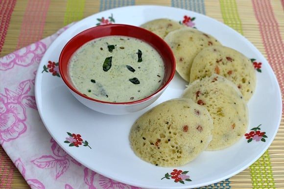 Rava Idlis using Instant Rava Idli Mix